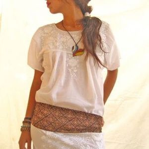 Mexican Dresses Vintage Embroidered Boho Style
